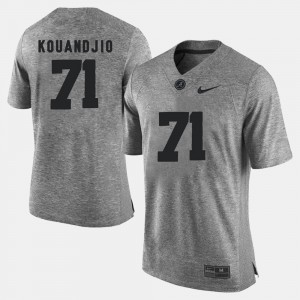 Mens Roll Tide #71 Arie Kouandjio Gray Gridiron Gray Limited Gridiron Limited Jersey 404597-236