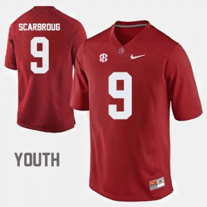 Youth Bama #9 Bo Scarbrough Crimson College Football Jersey 735414-976