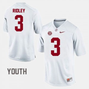For Kids Bama #3 Calvin Ridley White College Football Jersey 837513-934