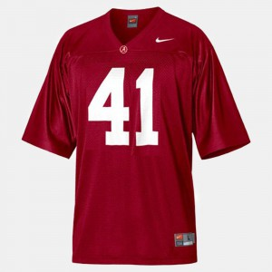 For Kids Bama #41 Courtney Upshaw Red College Football Jersey 982131-877