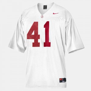 For Men Bama #41 Courtney Upshaw White College Football Jersey 400649-529