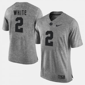 Mens Bama #2 DeAndrew White Gray Gridiron Gray Limited Gridiron Limited Jersey 176715-245