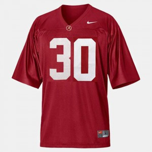 For Men's Alabama Crimson Tide #30 Dont'a Hightower Red College Football Jersey 952556-757