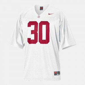 Mens Alabama Roll Tide #30 Dont'a Hightower White College Football Jersey 826090-858