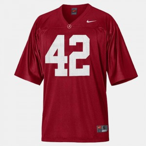 For Men's Bama #42 Eddie Lacy Red College Football Jersey 877424-477