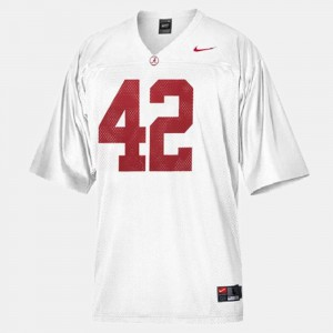 For Kids Bama #42 Eddie Lacy White College Football Jersey 574461-319