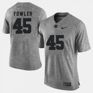 For Men's Bama #45 Jalston Fowler Gray Gridiron Gray Limited Gridiron Limited Jersey 699849-476