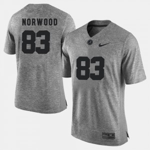 For Men Alabama #83 Kevin Norwood Gray Gridiron Gray Limited Gridiron Limited Jersey 200341-739