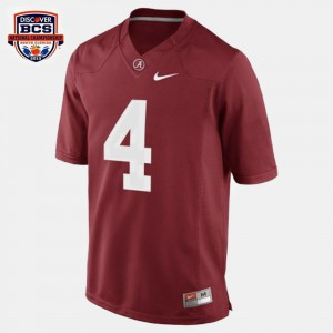 For Men's Alabama Roll Tide #4 T.J. Yeldon Red College Football Jersey 187729-936