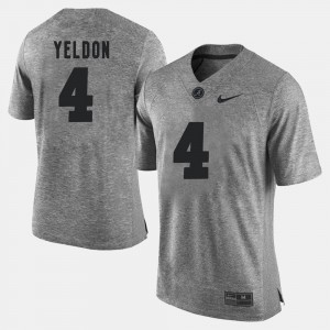 For Men Roll Tide #4 T.J. Yeldon Gray Gridiron Gray Limited Gridiron Limited Jersey 829148-854