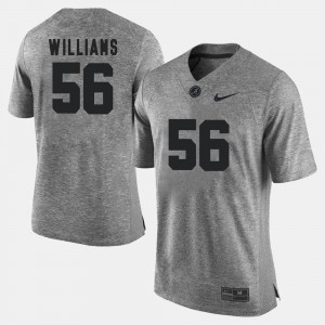 For Men Alabama Roll Tide #56 Tim Williams Gray Gridiron Gray Limited Gridiron Limited Jersey 502198-624