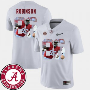 For Men Alabama Roll Tide #86 A'Shawn Robinson White Pictorial Fashion Football Jersey 820985-518
