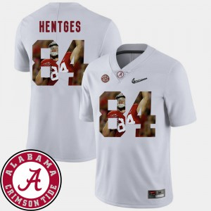 For Men's Bama #84 Hale Hentges White Pictorial Fashion Football Jersey 115756-881