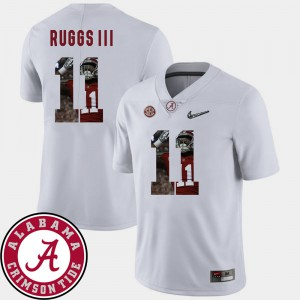 Men Roll Tide #11 Henry Ruggs III White Pictorial Fashion Football Jersey 800709-846