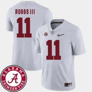 Men Roll Tide #11 Henry Ruggs III White College Football 2018 SEC Patch Jersey 142186-307