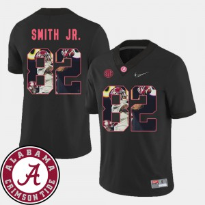 For Men's Bama #82 Irv Smith Jr. Black Pictorial Fashion Football Jersey 556110-759