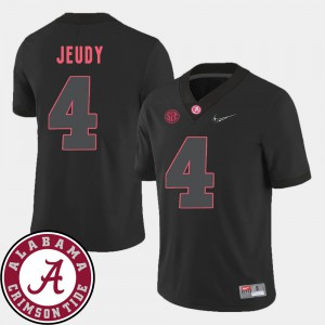 For Men Bama #4 Jerry Jeudy Black College Football 2018 SEC Patch Jersey 458099-993