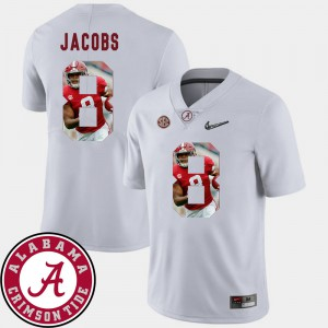 For Men Roll Tide #8 Josh Jacobs White Pictorial Fashion Football Jersey 873747-628