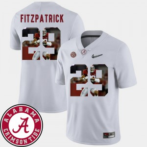 For Men Roll Tide #29 Minkah Fitzpatrick White Pictorial Fashion Football Jersey 702314-693