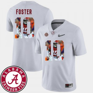 Mens Alabama Roll Tide #10 Reuben Foster White Pictorial Fashion Football Jersey 611739-224