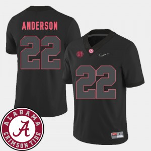 For Men Roll Tide #22 Ryan Anderson Black College Football 2018 SEC Patch Jersey 841449-452