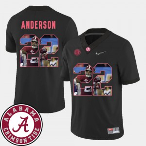 For Men's Bama #22 Ryan Anderson Black Pictorial Fashion Football Jersey 961427-950