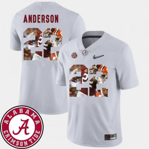 For Men's Roll Tide #22 Ryan Anderson White Pictorial Fashion Football Jersey 238937-766